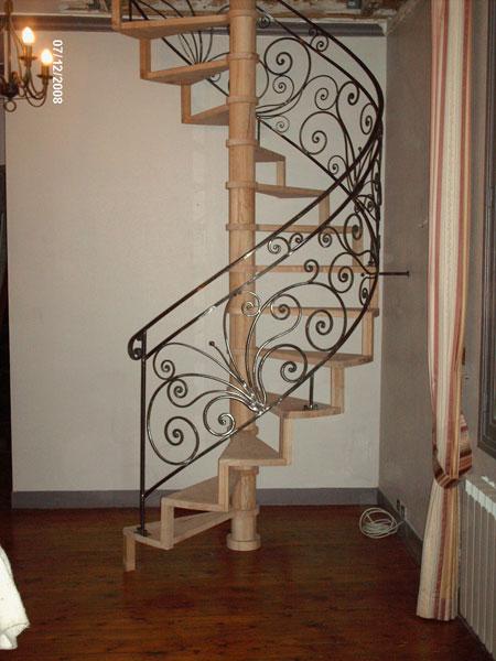 escalier en colimacon en fer forge