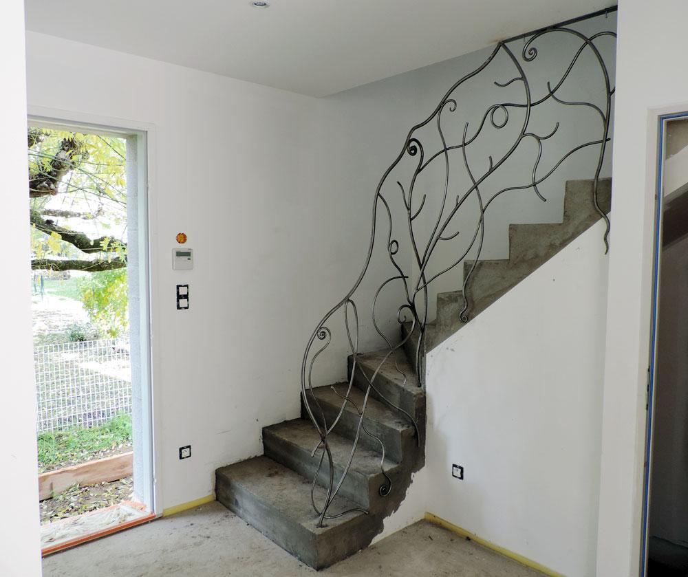 rambarde escalier pas japonnais ou hollandais fer et matieres artistique. Black Bedroom Furniture Sets. Home Design Ideas