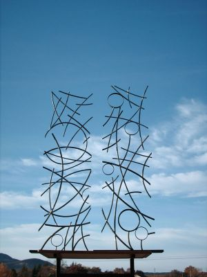 Iron sculpture, Lines of Energy