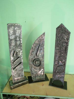 sculpture fer    environ   50 cm x 20 cm