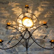 Lamp (wall or table) with candle holders,