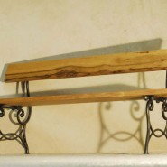 Bench, iron and wood - 750€