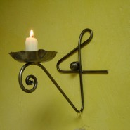 Wall candle holder, iron
