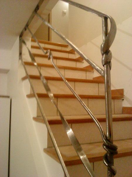 Rambarde escalier pas japonnais ou hollandais fer et for Fer forge escalier