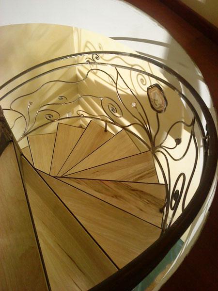 rambarde d 39 escalier avec sertissage de pierre semi. Black Bedroom Furniture Sets. Home Design Ideas
