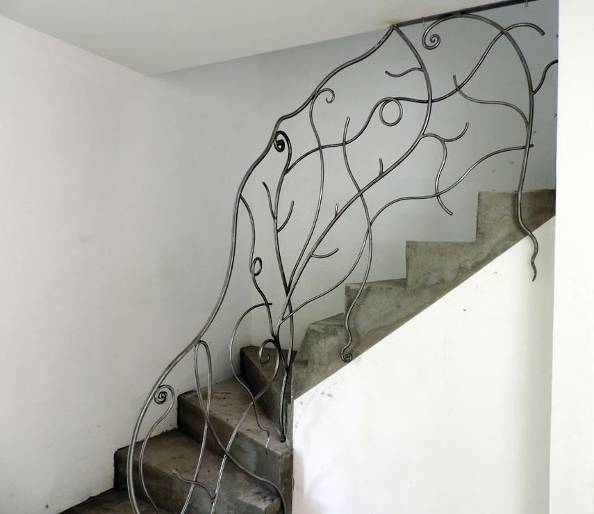 Rampe Escalier Fer Contemporain2 Atelier Fer Et Mati Res
