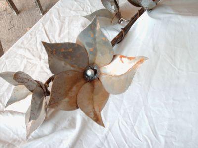 Lampe fleurs - fer - Litschky