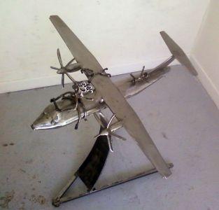 plane bi-motor-70x90 cm