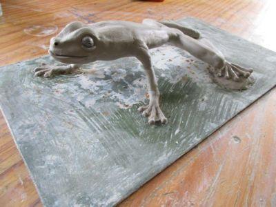 Grenouille - sculpture fer - Litschky