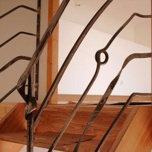Rambarde d'escalier fer plat
