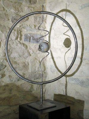Sculpture fer et pierre