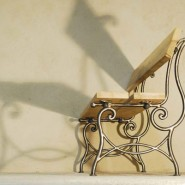 Bench, iron and wood