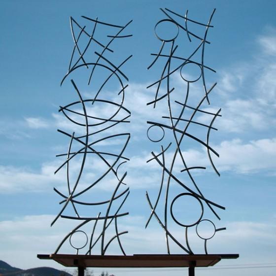 """""""lignes d'énergie"""" sculpture fer forgé"""
