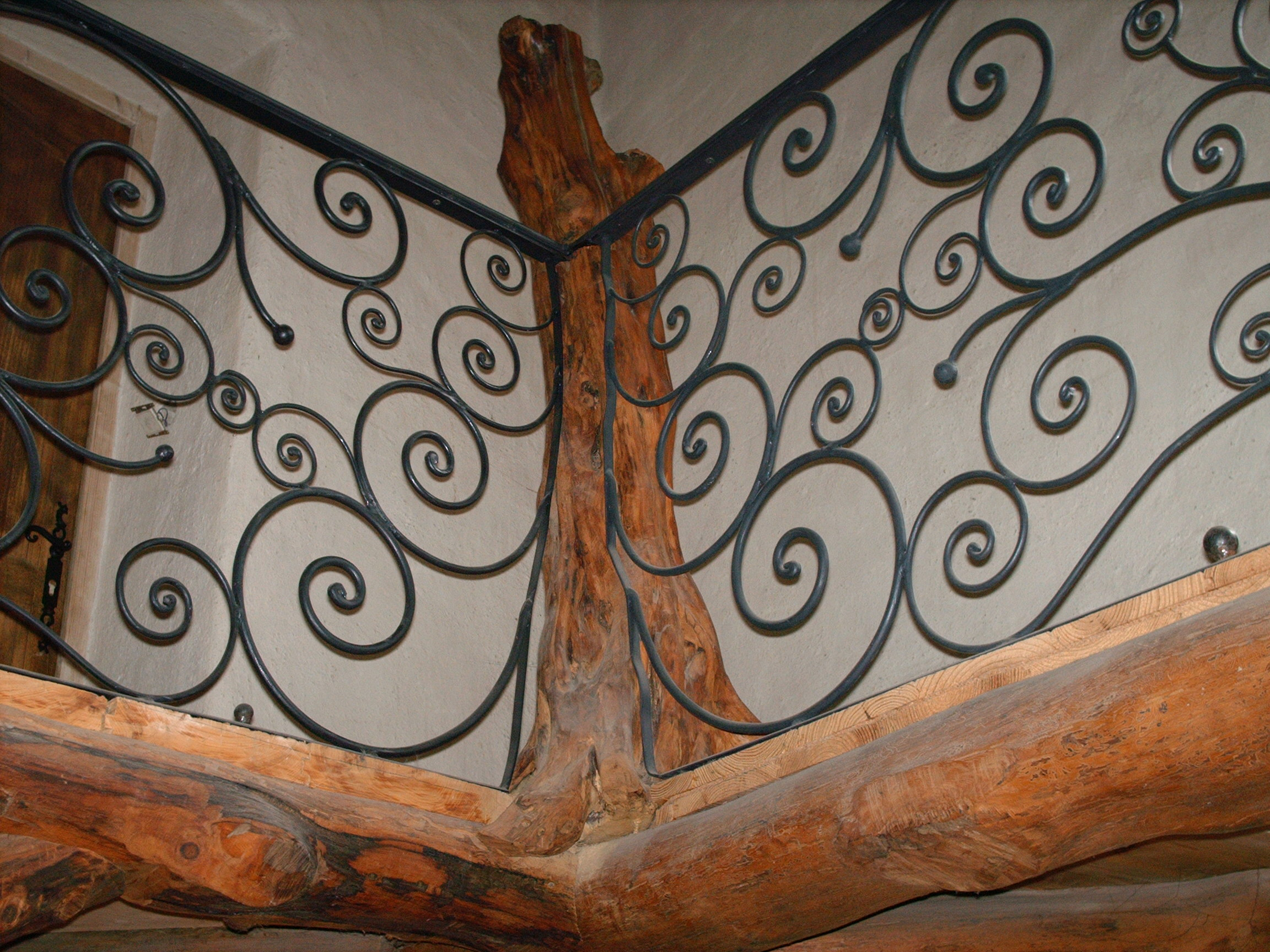 balustrade-stair-railings-wrought-iron-in-a-peacock-form